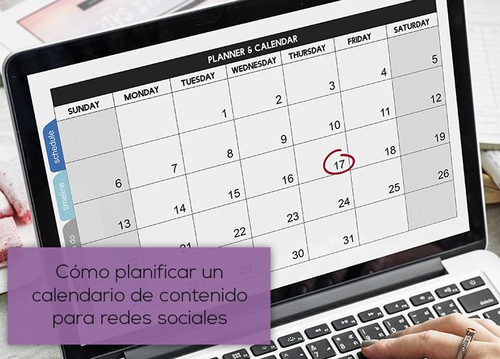 cómo planificar un calendario de contenido para redes sociales